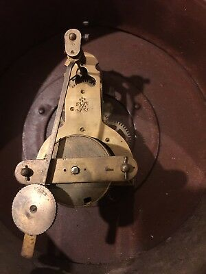 Old Vintage Antique Clock Movement Dial Nice Hands For Spares or Repair parts