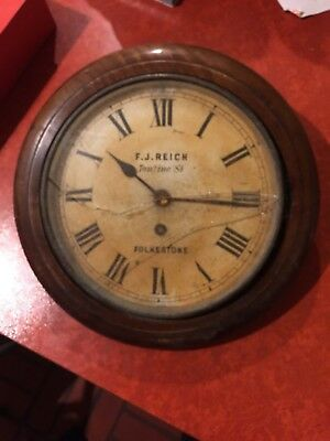 Antique Lenzkirch clock By F.J.Reich Tontine St. Folkestone for spares or repair