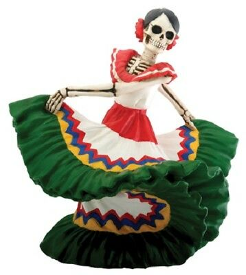 NEW! Day of the Dead Dancing Senorita Green Figurine DOD Collectible Statue 7812