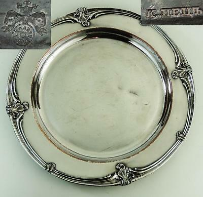 RUSSIAN FUSED SILVER PLATE DISH / PLATE PETZ c1825