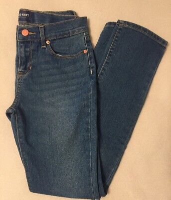 Old Navy Girls Size 12 Distressed Denim Blue Jeans