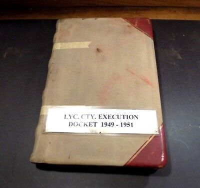 Courthouse Docket Book Lycoming County Pennsylvania 1949-1951