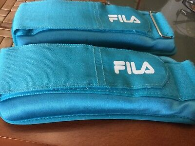 Pair of FILA wrist or ankle weights, 1 kg each VGUC Surplus to need