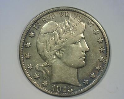 1915-D BARBER HALF-DOLLAR  EXTREMELY FINE ~362839-CEy