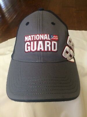 DALE EARNHARDT JR.  88 NATIONAL GUARD HAT CAP BLACK GRAY CHASE AUTHENTICS  fitted 33220f3069c6