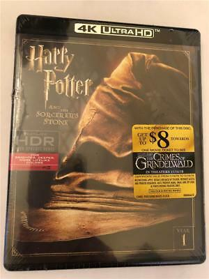 NEW Harry Potter and the Sorcerers Stone (4K Ultra HD Blu-ray, 2017)