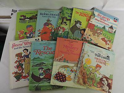 Lot of 9 Wonderful World of Reading Disney some Vintage Hardcover Books