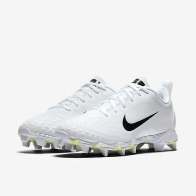 new style 5b8ef 41fcd Nike Hyperdiamond 2 Keystone Womens Softball Cleats 856434 100 Whte Black  Sz 7.5