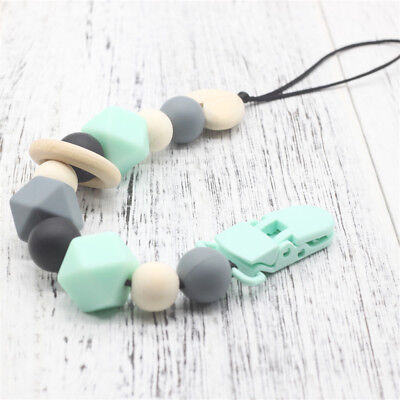 Silicone  Infant  Nipple Strap Dummy Clips Baby Teething Soother Pacifier Chain