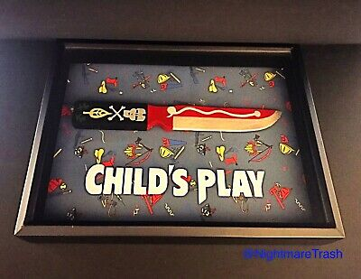 Chucky Doll Child's Play Voodoo Knife Movie Prop Display Horror Bride Curse Of