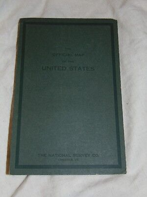 1918 The Official Map Of United States The National Survey Co.