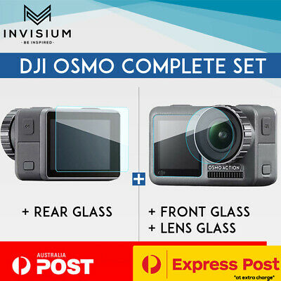 INVISIUM Tempered Glass Screen Protector Front Rear Lens DJI Osmo Action Camera