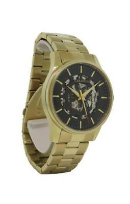 Caravelle New York 44A107 Men's Round Gold Tone Automatic Analog Watch