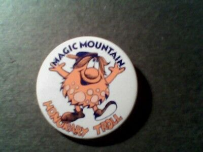 1970s Pre-Six Flags Magic Mountain Honorary Bloop  Troll Pinback Button-Sale!