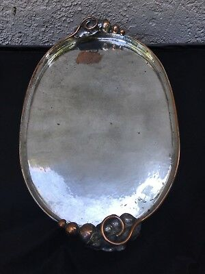 Charla Ilgner Vintage Handmade Hand Hammered Tray Plate Silver Listed USA Artist