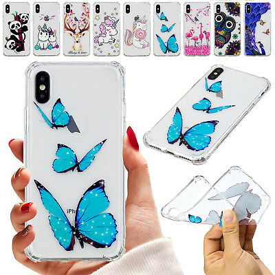 For iPhone X 6s 7 8 Plus Case Transparent TPU Ultra Slim Soft Silicone Cover