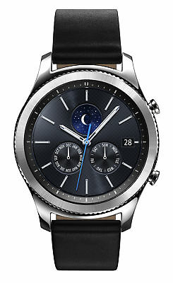 Samsung Galaxy Gear S3 classic Black Classic 46mm Stainless Steel Case Silver C…