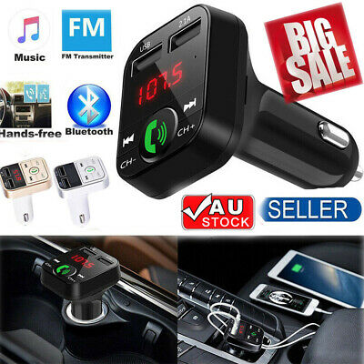 Car Kit Hands-free Wireless Bluetooth FM Transmitter LCD MP3 Player USB Charger