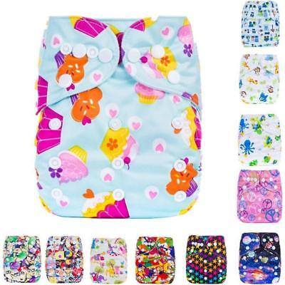 Kids Infant Reusable Washable Baby Cloth Diapers Nappy Cover Adjustable NEW