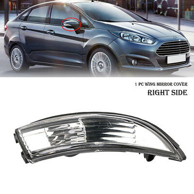 Pair Wing Mirror Turn Signal Indicator Light Lens Cover For Ford Fiesta 2009-18