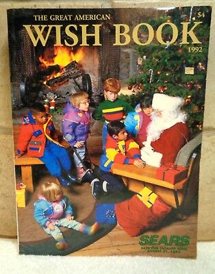 Vintage 1992 SEARS CHRISTMAS TOY Catalog The Great American Wish Book
