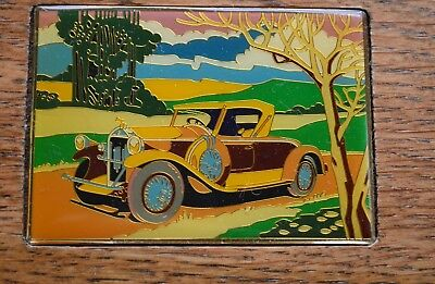 Vintage ANTIQUE CAR Sealed PLAYING CARDS SETS (2) in Solid WOOD CASE Enesco 1985