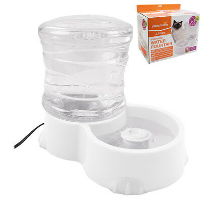 Pet Water Drinking Fountain 2.5L Cats Dogs Summer Automatic Drink Bowl Dispenser