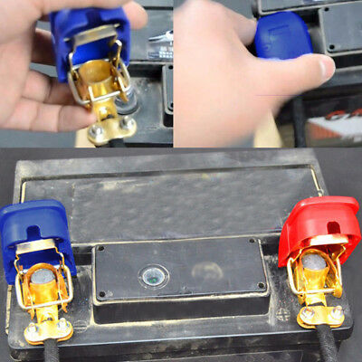 Car Boat RV Heavy Duty Quick Release Battery Terminal Clip Connector Clamps 2pcs