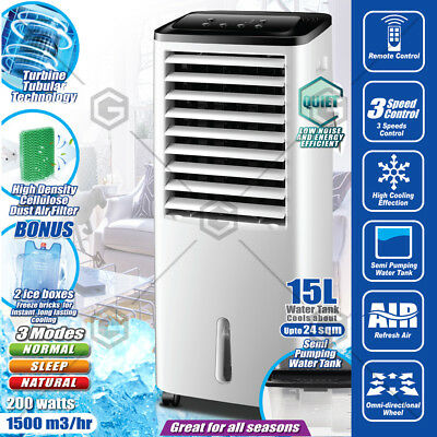 Devanti Portable Fan Evaporative Air Cooler Humidifier Water Conditioner 15L