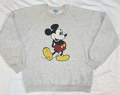 Vintage 80's Walt Disney World Mickey Mouse shirt Crew Neck Sweatshirt Adult L