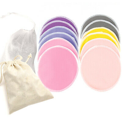 12 Pads Breastfeeding Pads Nursing Set Reusable Breast Washable Bamboo UK