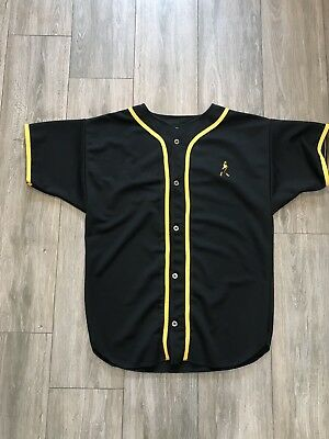 Vintage Johnnie Walker Baseball Jersey Promo Black And Yellow