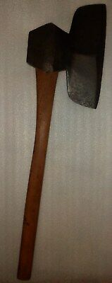 Antique Huge Canadian Broad Axe  33-Inch.