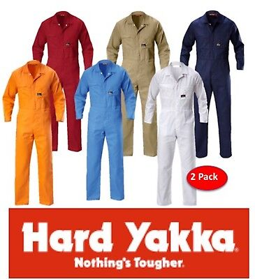 Hard Yakka - 2 Pack - Light / Summerweight Drill Cotton Overall/coverall Y00030