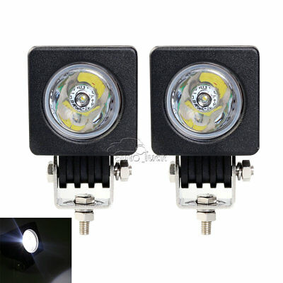 2x 10W CREE LED Work Light Spot off-road 4X4 Car Truck Motorcycle Bike Fog lamp