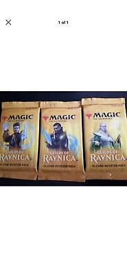 FIVE(5)x New Guilds Of Ravnica Booster Packs Factory Sealed