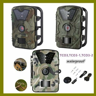 Trail Hunting Camera 1080P 12MP HD Infrared Night Vision Game Wildlife Camera Y