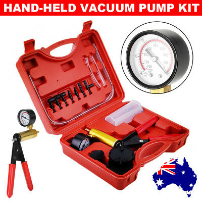 Hand Held Brake Bleeder Tester Set Vacuum Pump Car Motorbike Bleed Kit AU SELLER
