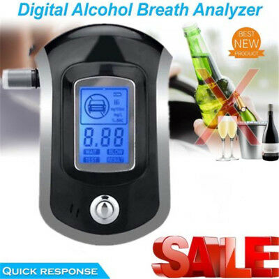 Digital police breath alcohol tester analyzer detector breathalyzer test LCD #G