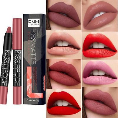 Sexy Kiss Proof Matte Lipstick Longlasting Soft Lip Lipsticks Pen Beauty Gift