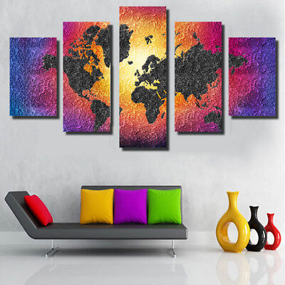 DIY Unframed Abstract Canvas Painting Picture Wall Mural Decor Various Patterns