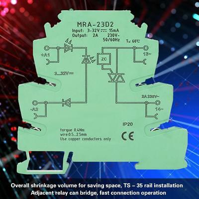 MRA-23D2 Solid State Relay Module 6.2mm Ultra-thin Relay Board Input 3-32V DC