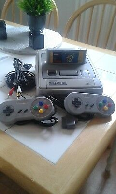 Super Nintendo Entertainment System White Console lovely condition