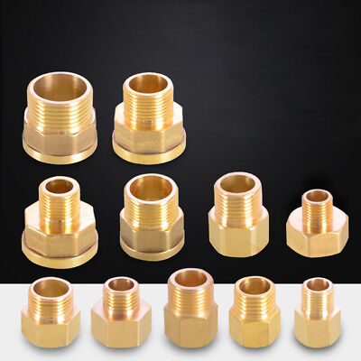 Brass Bush BSP Straight Reducing Male × Female Thread Connector Pipe Fittings