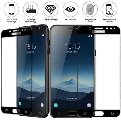 100% Genuine Tempered Glass Screen Protector For Samsung J7 MAX A3 A5 A7 A9 S6^^
