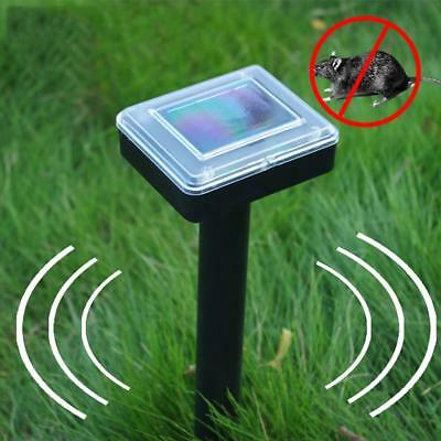 Solar Battery Cat Repeller Animal Chaser Scarer Ultrasonic Deterrent Repellent