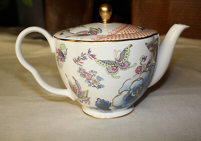 Wedgwood Butterfly Bloom Bone China 1000ml 1Ltr Large Size Teapot