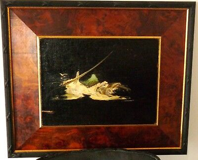 Original Mid-Century Modern MCM Abstract Oil Painting
