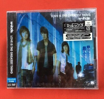 W-Inds Love Is The Greatest Thing Japan Très Bon État Cd + Dvd
