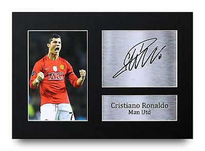 Cristiano Ronaldo Gift Signed A4 Printed Autograph Print Man Utd Gifts Photo